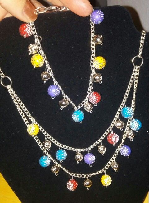 Rainbow bracelet and necklace
