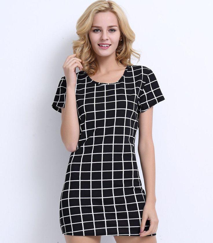 New Fashion Womens Sexy Summer Short Sleeve Mini Dress Casual T Shirt Loose Tops   eBay