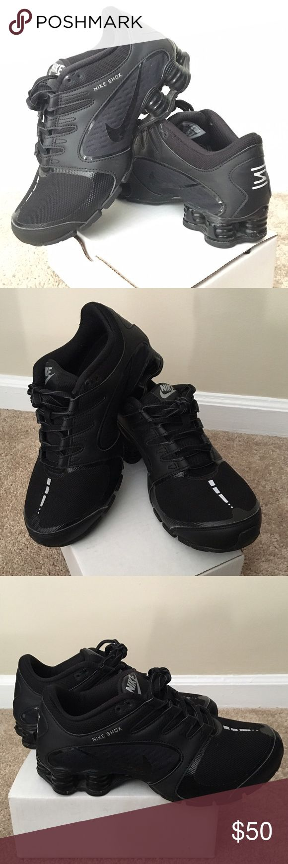 Black Nike Athletic Shoes Black Nike Shox, athletic shoes, only worn once, in excellent condition!! Nike Shoes Athletic Shoes