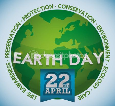 Green World with Values Around of Earth Day Celebration