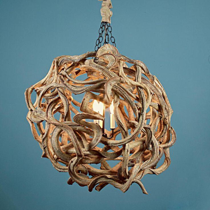 85 best chandeliers images on pinterest chandelier chandelier de vine wood ball chandelier mozeypictures Gallery