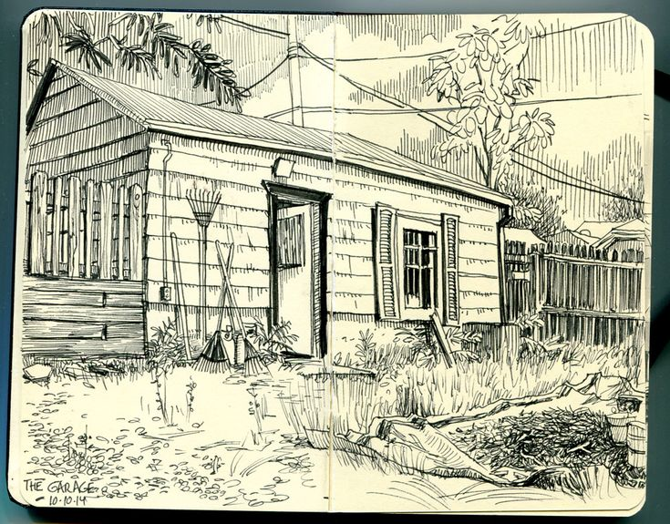 https://flic.kr/p/pDSyCR | thegarage01small    Paul Heaston | This drawing is of a small building surrounded by plants and gardening equipment. The artist uses lines to add value and add depth to the building and fences around it. What interests me in this piece is the perspective used along with composition.