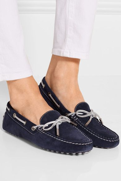 Tod's - Gommino Suede Loafers - Navy - IT38.5