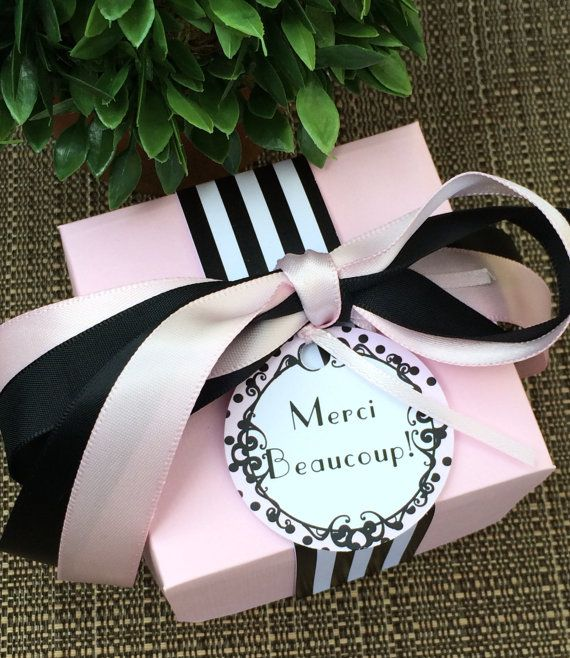 Paris Party Favor Boxes Set of 12 by KristinesCreationsSD on Etsy, $36.00