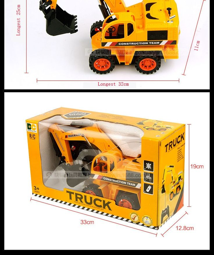 Stylish Remote Control Digger Excavator Toy For Sale