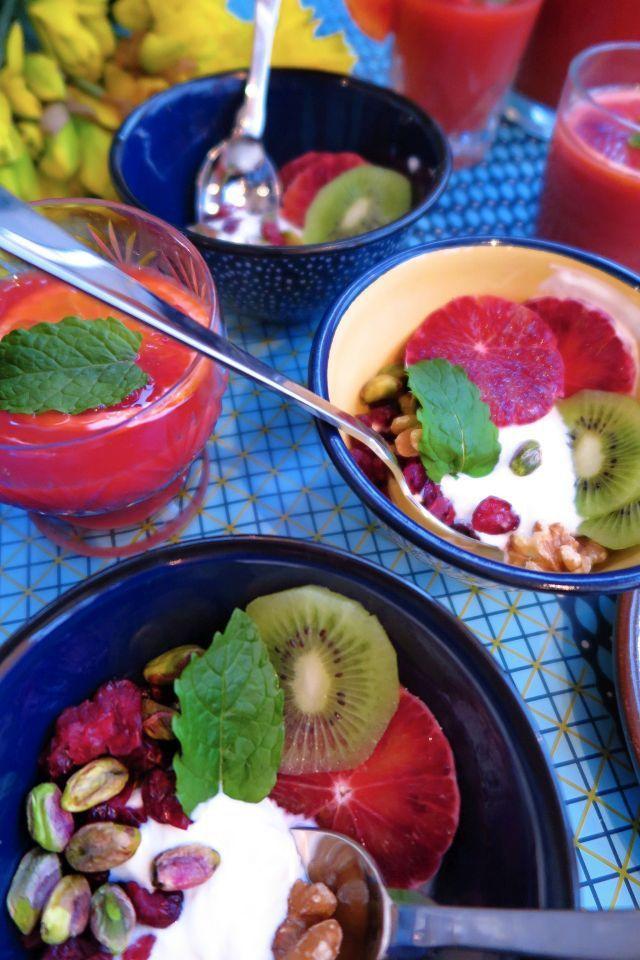 Jenni's Table: Blood Orange Brunch with fruity yoghurt parfaits