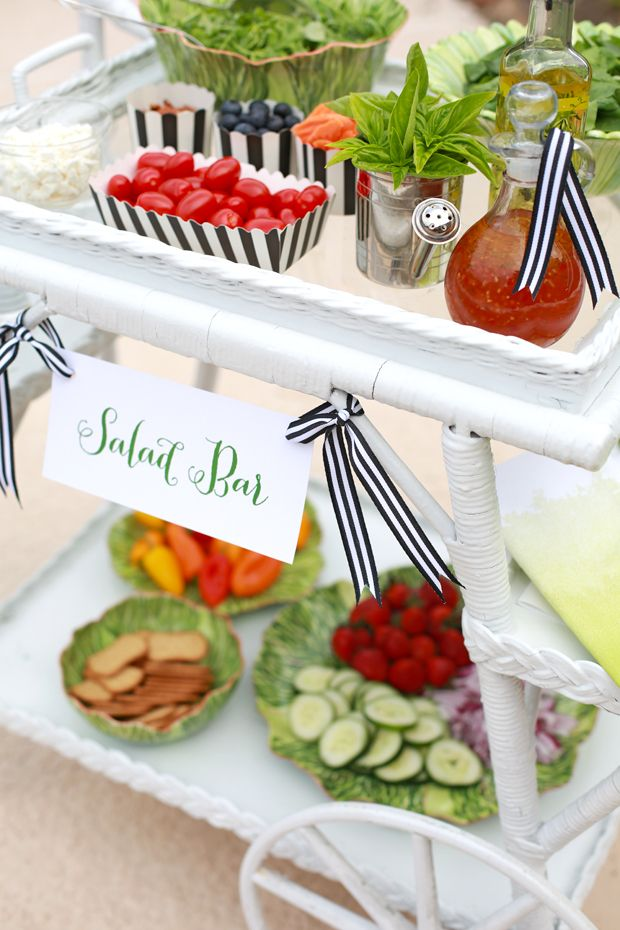 A fresh entertaining twist. Set up this salad bar for your next summer party.