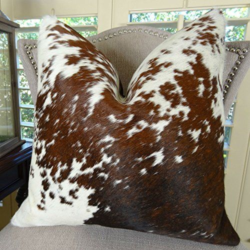 thomas collection handmade in usa premium brazilian cowhide designer pillow for couch sofa bed made in