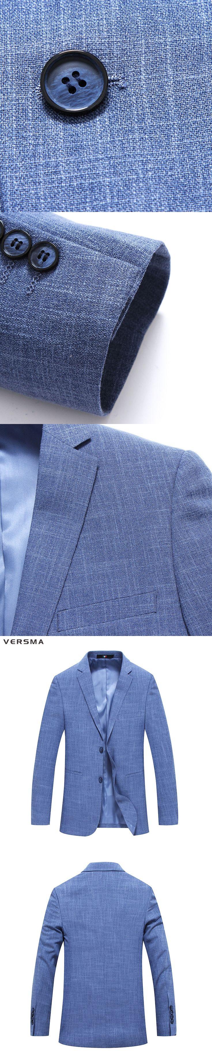 VERSMA 2017 New Mens Suit Blazer Masculino Stripe Mens Suit Jacket Sky Blue Men Blazer Designs Men Casual Blazer Jacket for Men