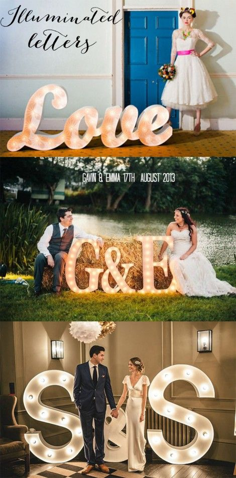 Wedding Trends 2014 - light up letters, illuminated letters at weddings