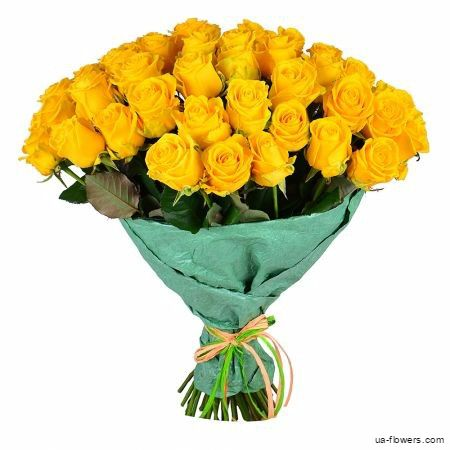 Gorgeous bouquet of 51 yellow #roses