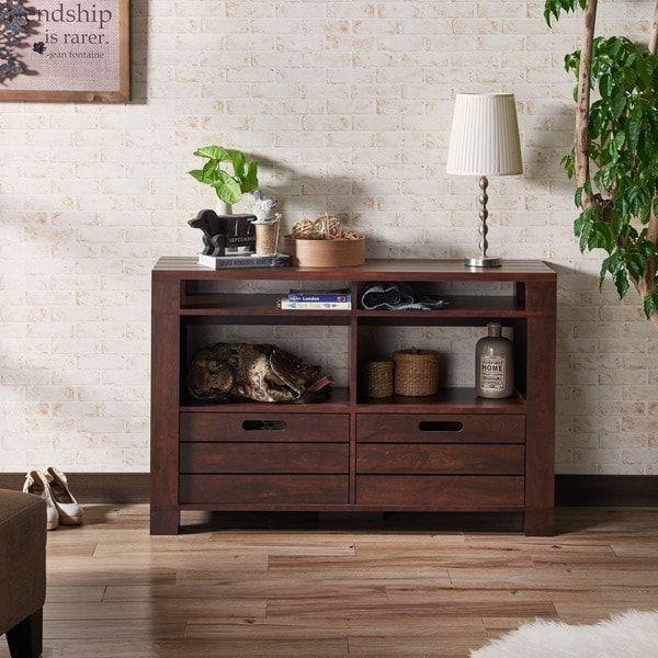 Enjoyable Furniture Of America Crete Vintage Walnut Storage Sofa Table Ibusinesslaw Wood Chair Design Ideas Ibusinesslaworg
