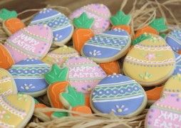 """""""Easter eggs, Easter eggs Eggs of orange and blue. Here' are lots of colored eggs All for me and you!"""""""