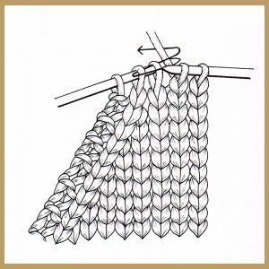 Maschen abnehmen am Rand erfolgt in den Hinreihen durch Abheben oder Zusammenstricken und ergibt in der richtigen Technik gearbeitet einen sauberen Rand