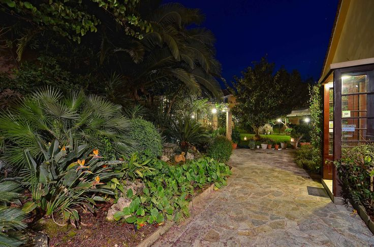Our hotel grounds photographed at night #HotelKonaki #Lefkada #Greece (C) Hotel Konaki