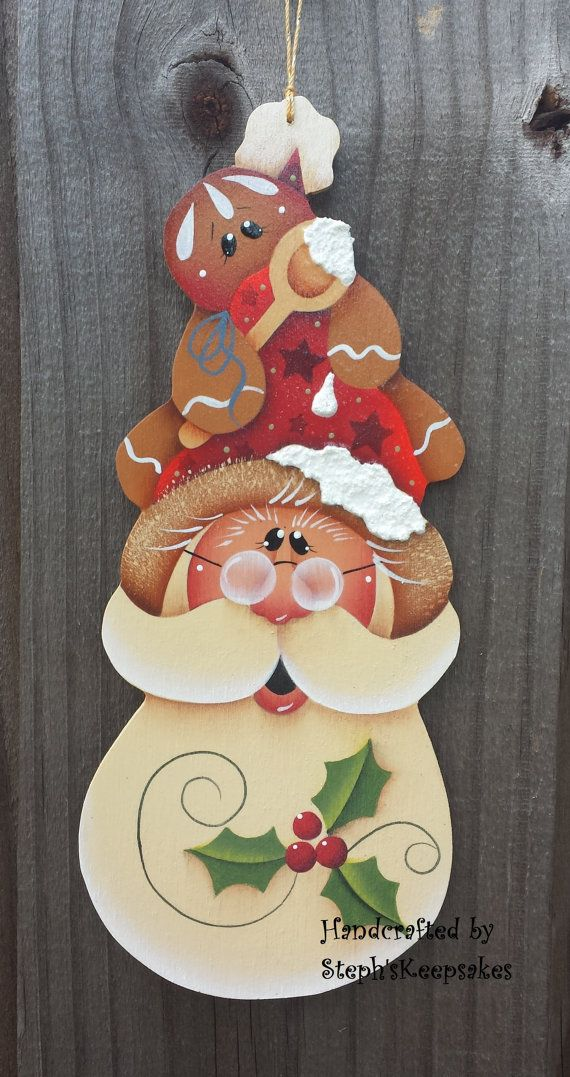 Cute little ornament great for decorating your tree. these could be used as gift tags, in wreaths. Handcut and hand painted by myself from 1/8