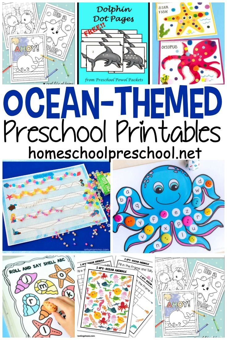 25 Preschool Ocean Theme Printables With Images Ocean Theme