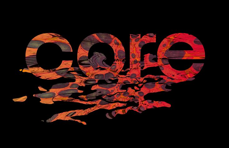 Core by T Stenersen  Expressive, creative typography - organic elements, photoshop design, 70s vibe.