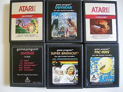 Atari Games Cartridges Packman Centipede Super Breakout Defender Vanguard Combat