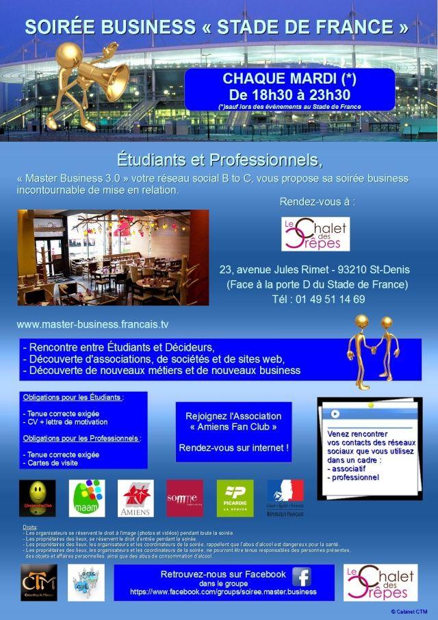 Mardi de 18h30 à 22h - Soirée MASTER BUSINESS du GCIC CLUB