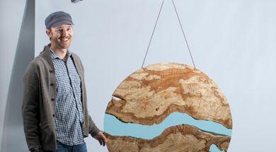 River Sculpture photo shoot with Greg Klassen Furniture Maker