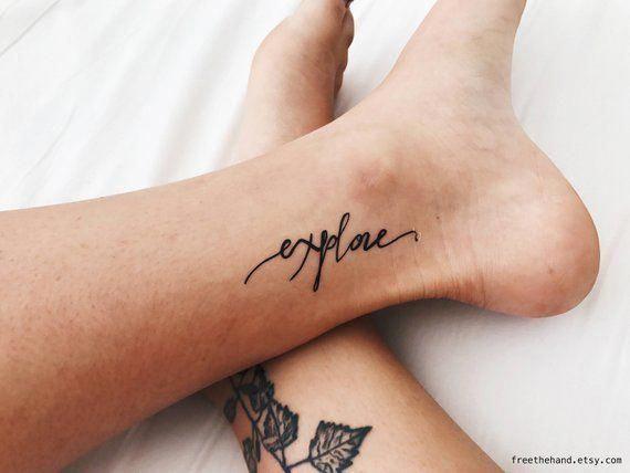 Explore Quote Temporary Tattoo (Set of 2)