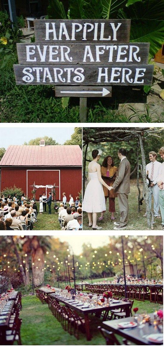 Backyard Wedding Ideas Inspiration Board hanging lights