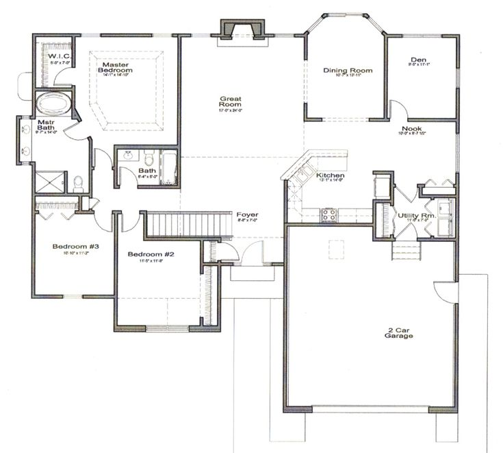 36 best images about house plans on pinterest house for Ranch house plans with bedrooms together