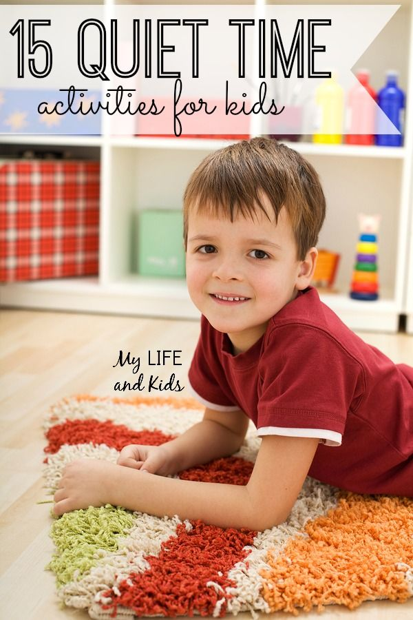 15 Quiet Time Activities for Kids. My kids LOVE these (and I do too!)