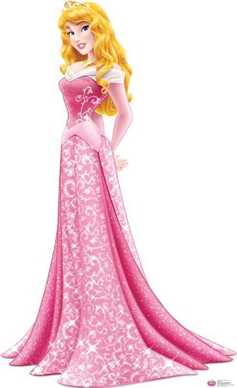 Aurora- as usual Disney gave her the wrong color for her gown, and the pattern on the skirt isn't helping either.
