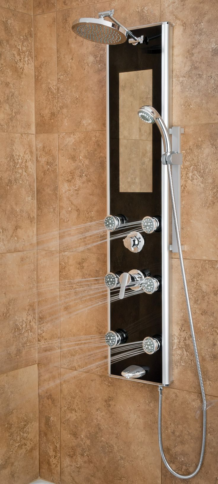 Take charge of your shower! The PULSE Leilani Shower Spa allows you to customize your shower experience with its six dual-function body jets and easy fingertip controls.