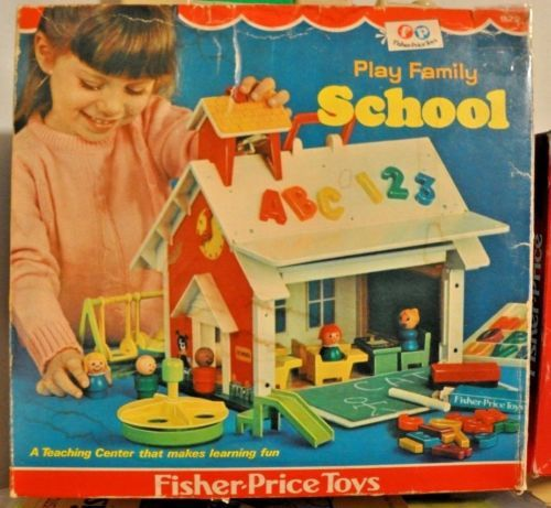 vintage Fisher Price Little People school