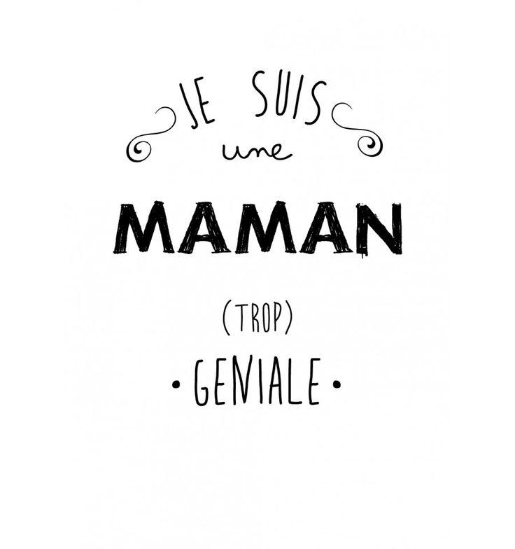 tee-shirt femme gris je suis une maman trop géniale - marcel et lily