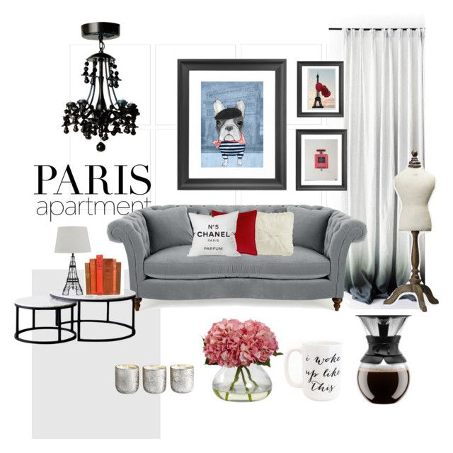 Mix and Match Paris by kelschiao on Polyvore featuring interior, interiors, interior design, home, home decor, interior decorating, Moon and Lola, Bodum, Chanel and Illume