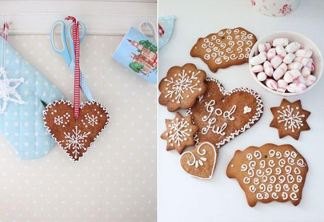 Gingerbread - Pepperkaker dekorerte