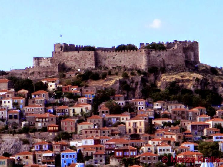Molyvos village and Castle, #Villa #Molova #Molyvos, #Μήθυμνα, #Lesvos, #Greece