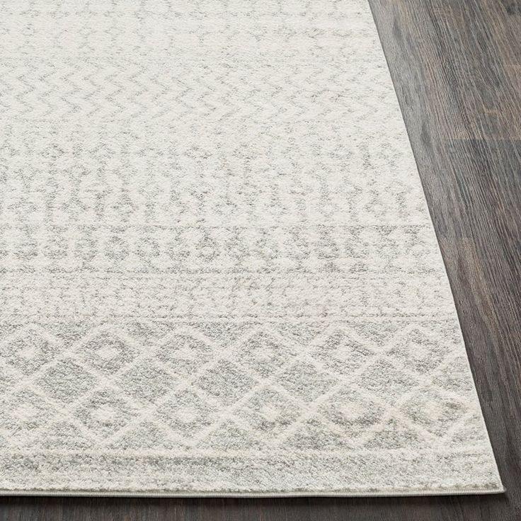 Kreutzer Geometric Light Gray Medium Gray White Indoor