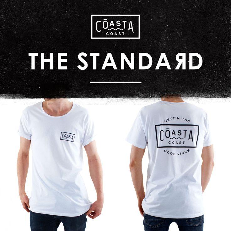 The Standard tee www.coastacoast.com #surfclothing #surftshirt #tshirt #surf #skate