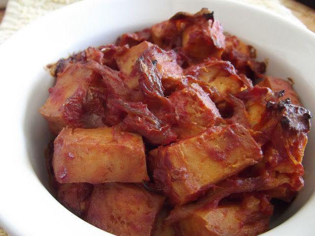 Roasted Onion BBQ Tofu, a vegan slow cooker recipe - #crockpot #tofu #barbecue
