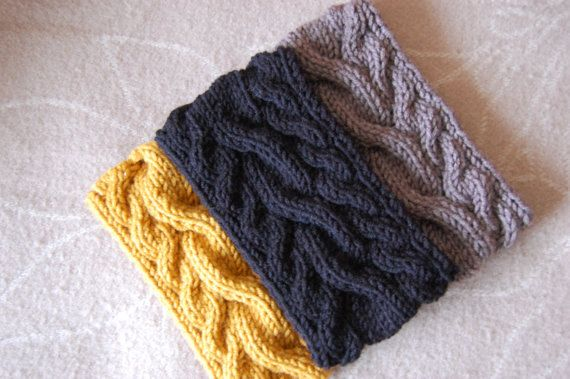 Hand knit headband Knitted Ear warmer Hand knit hair by luludress