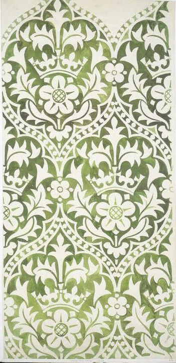 Original decorative scheme at the Palace of Westminster. (via V&A) http://collections.vam.ac.uk/item/O78118/design-design-for-a-blind/
