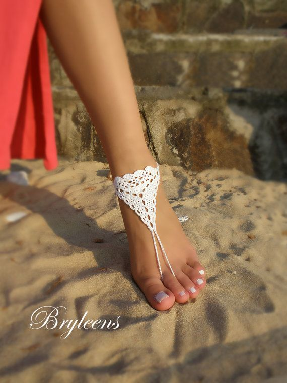 Hey, I found this really awesome Etsy listing at https://www.etsy.com/listing/468453448/bridal-barefoot-sandals-white-crochet