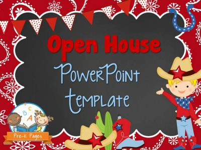 Western Theme Open House PowerPoint for Back to School #preschool #kindergarten