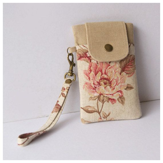 iPhone 5 Sleeve, Padded Phone Case, iPhone Wristlet, Smartphone Wristlet, Cell Phone Pouch on Etsy, $21.00