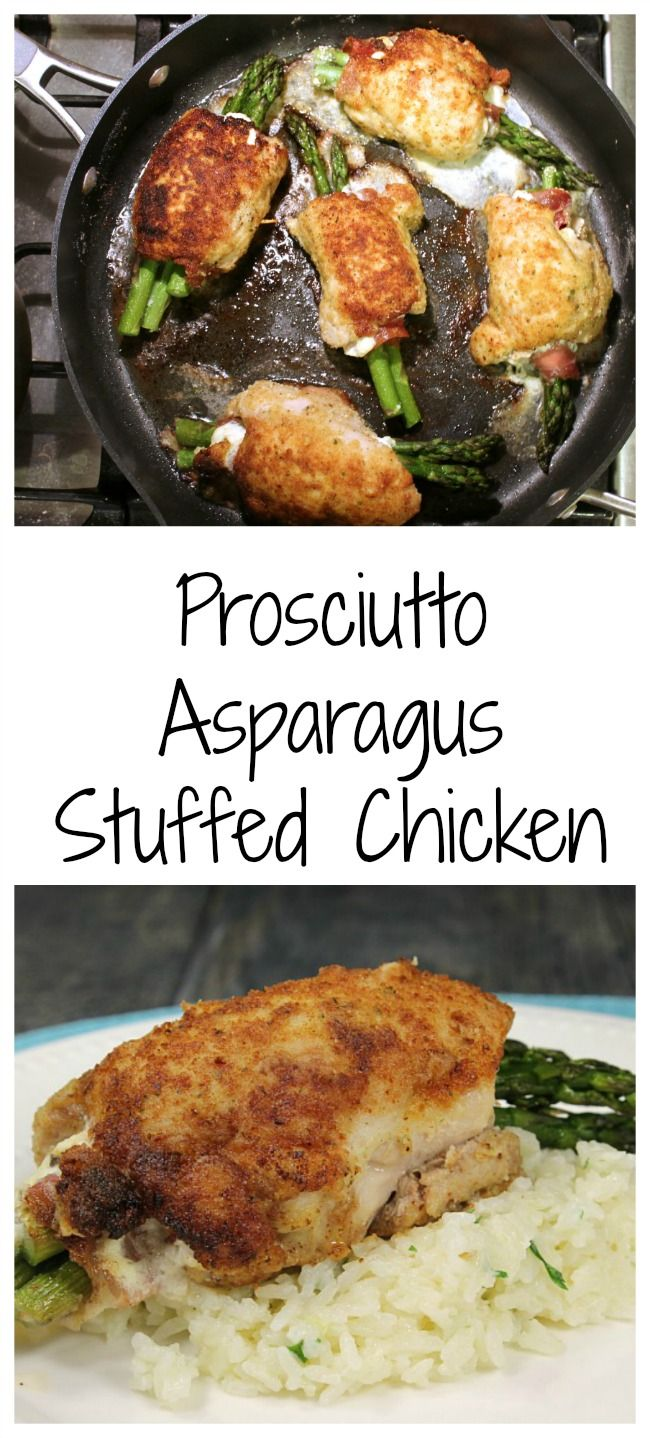 Prosciutto Asparagus Stuffed Chicken