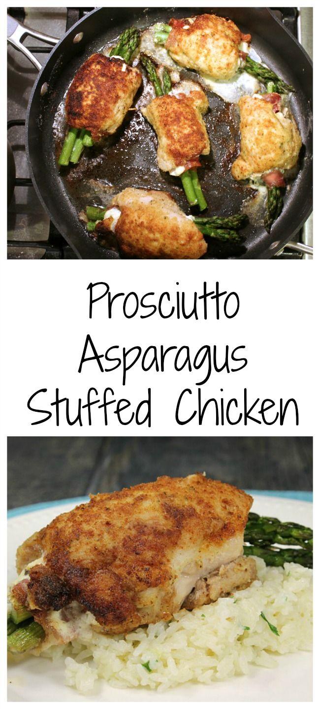 Prosciutto Asparagus Stuffed Chicken