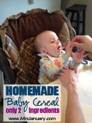Make Your Own Baby Cereal. Well... it's happening. Though I keep telling him not to, my baby is growing. The time has come for him to begin eating baby cer