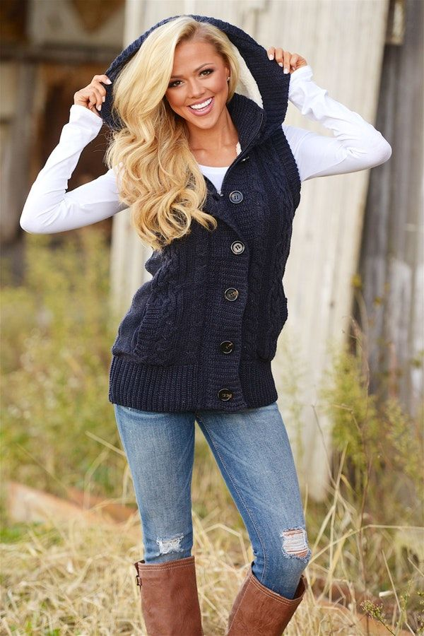 5ecf2177169e8  fall  outfits women s black button up vest with white long-sleeved shirt  and blue jeans