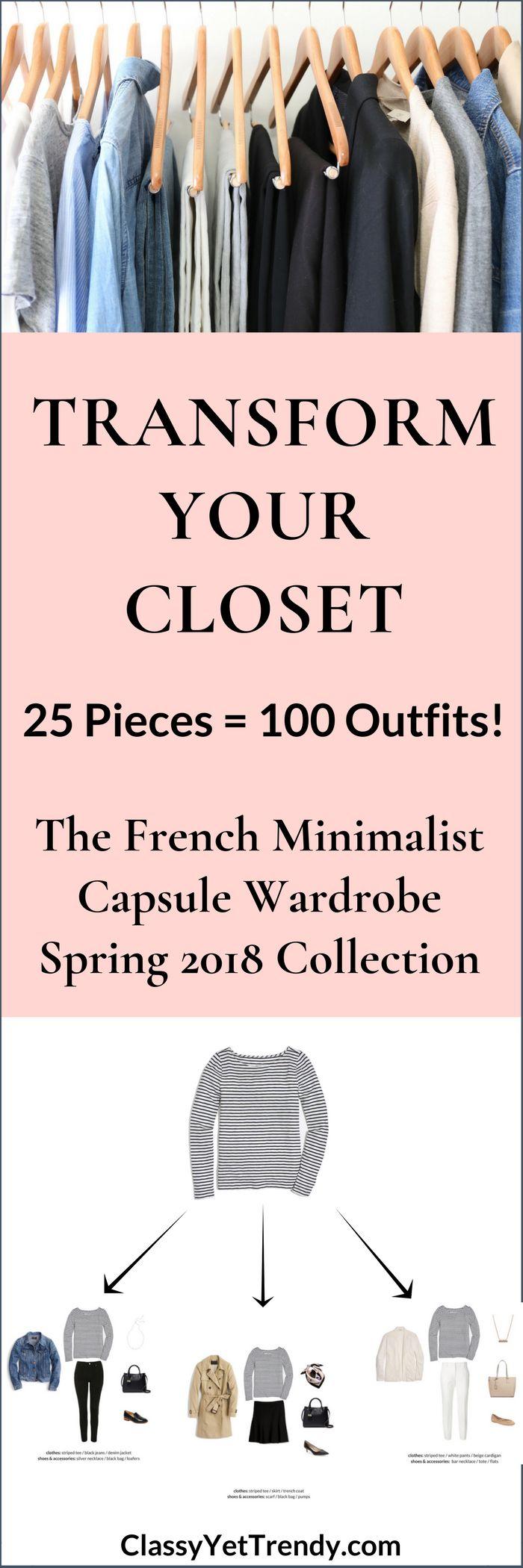 The French Minimalist Capsule Wardrobe: Spring 2018