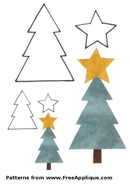 Christmas tree applique pattern/outline, also has other Christmas applique patterns